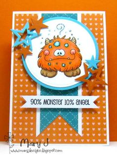 cute monster card
