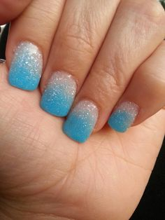 Baby sky blue & frosted white (nexgen nails)