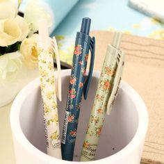 New school Cute Cartoon Ball Pens kawaii korean stationery vintage flower ballpoint pen Gifts Free shipping