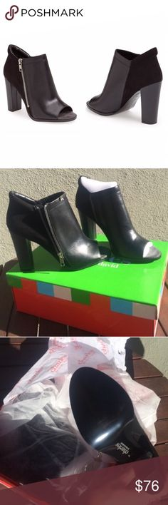 "Charles David Leather Peep Toe Ankle Booties Charles David Jaden genuine leather and suede peep toe ankle booties. Brand new in box. Absolutely gorgeous! Size 8. True to size. Exterior side zip. Hardware is silver. Back panel is suede, the rest is leather. Block heel.. height is 4"". ❌ NO TRADES ❌ NO LOWBALLING ❌ Charles David Shoes Ankle Boots & Booties"