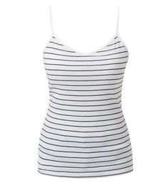 White Stripe V Neck Vest