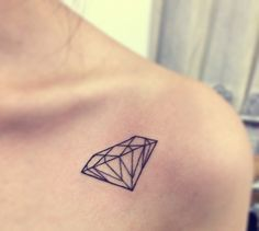 Popular Tattoo designs like arrow geometric tattoo, flower tattoos, animals tattoos, tattoos sleeve and many more listed. Small Diamond Tattoo, Diamond Tattoo Designs, Diamond Tattoos, Geometric Tattoo Design, Diamond Tattoo Meaning, Cute Small Tattoos, Mini Tattoos, Trendy Tattoos, Tattoos For Women
