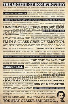 11x17 Anchorman Quote Poster by PoppinsDesign on Etsy, $19.00