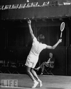 Pancho Gonzalez (USA) - 1949 Los Angeles Open, Los Angeles Tennis Club.