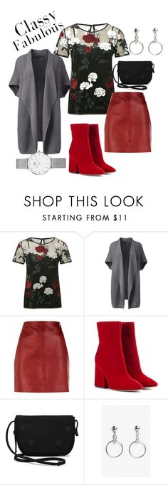 """Red"" by rachel-d-donkor on Polyvore featuring M&Co, Lands' End, Sandro, Maison Margiela, TOMS, Monki, Daniel Wellington and plus size clothing"