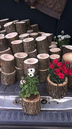 woodworking - Pots from chests Garden, Succulent garden landscape, Wood planters, Garden design, Yar Garden Crafts, Garden Projects, Garden Art, Wood Projects, Big Garden, Log Planter, Wood Planters, Planter Boxes, Garden Planters