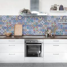 Fliesenfolie selbstklebend 15x15 cm 3x3 design ornament light 1 grafik illustration - Selbstklebefolie mosaik ...