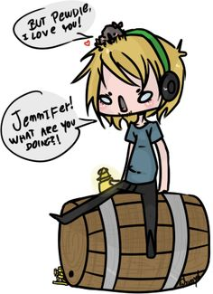 pewdiepie and jennifer and stefano and...BARREL!!!