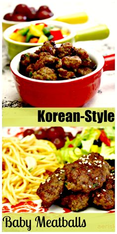 These Korean-Style Baby Meatballs are easy to prepare and a kid-friendly favorite! Definitely a must-try #recipe for anyone wanting an easy weeknight meal!