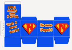 Essa caixa personalizada do Superman,pode ser feita de duas maneiras, como a caixa acima, colocando as iniciais do seu pai ou u...