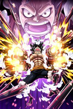 'Luffy Snakeman - One Piece' Poster by One-piece-World One Piece Images, One Piece Pictures, One Piece Wallpaper Iphone, News Wallpaper, Manga Anime One Piece, Luffy Gear 4, One Piece Tattoos, One Piece Drawing, Anime Art