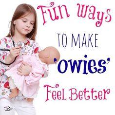 Love these creative ways to make kids' boo boos go away!