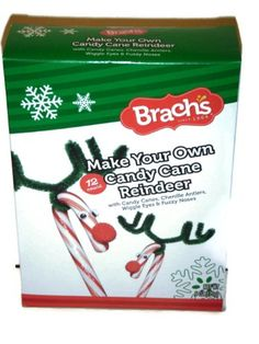 Christmas Candy Cane Make Your Own Reindeer Kit By Brach's Makes 12 - http://www.fivedollarmarket.com/christmas-candy-cane-make-your-own-reindeer-kit-by-brachs-makes-12/