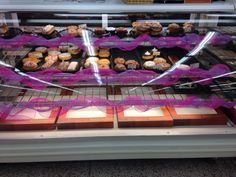 Decorated donut case