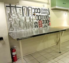Jack Olsen's welding bench. look at all those clamps--- Welding forum for pros and enthusiasts