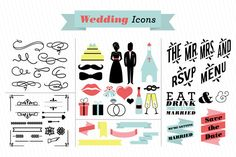 Wedding Vector Icons by Lemonly on Creative Market