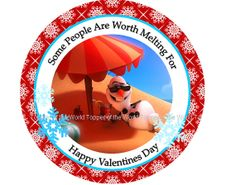 12 Olaf Personalized Disney Frozen Valentines by TopperoftheWorld, $8.00