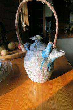 flying teapot, raku