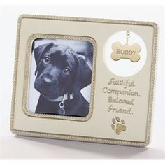 """Pack of 4 Farewell Friend Pet Dog Memorial Tag 3"""" x 3.5"""" Photo Picture Frames"""