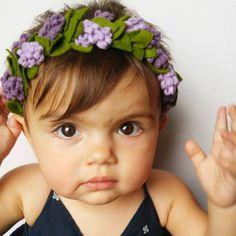 Forrest Fairy Lavender Leaf Halo wool felt flower Crown