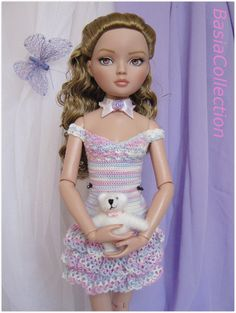 Ellowyne in crochet dress by BasiaCollection