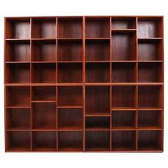 Scandinavian Modern Solid Teak Bookshelf by Hvidt & Mølgaard