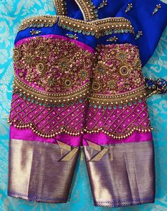 Kids Blouse Designs, Hand Work Blouse Design, Stylish Blouse Design, Wedding Saree Blouse Designs, Pattu Saree Blouse Designs, Blouse Designs Silk, Maggam Work Designs, Sarees, Global Market