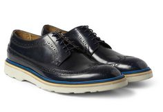 Blue Ribbon Details: Paul Smith Contrast Sole Leather Longwing Brogue