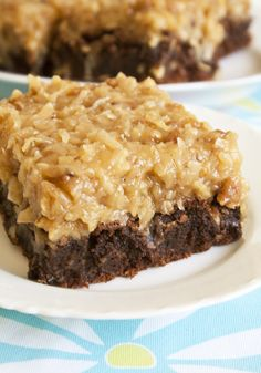 Over the Top German Chocolate Brownies(going to have to make these for Dad's birthday)