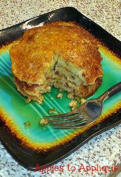 Oatmeal Almond Banana Pancakes (gluten-free, sugar free) | Apples to Applique