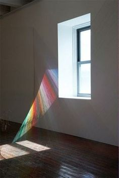 Light + string installation by Artist Mark Garry String Installation, Artistic Installation, Art Installations, Instalation Art, Licht Box, Pics Art, Art Pictures, Art Design, Art Plastique