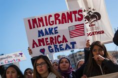 Image: Protesters against Donald Trump's immigration policies in Milwaukee on Feb. 13, 2017