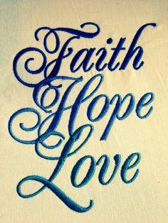 GG1274 Faith Hope Love by GnGDesigns on Etsy