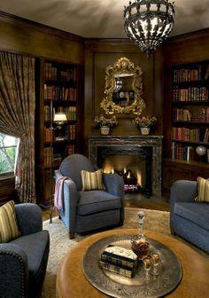 perdeleri değiştirip içeride daha aydınlık bir ortam yaratmak lazm; bir de kütüphaneyi büyütmek bunların dışında mükemmel bir oda
