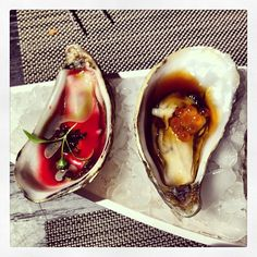 Oysters Are Known To Be a Natural Aphrodisiac. Seafood Recipes, Gourmet Recipes, Cooking Recipes, Romantic Meals, Romantic Recipes, Appetizer Buffet, Appetizers, Gourmet Food Store, Luxury Food