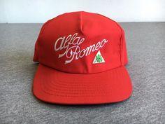 VTG ALFA ROMEO HAT 70S 80S Rare Snapback USA Baseball Cap 4 Leaf Clover Sewn  #Stange #alfaromeo #snapback #vtg #70s #80s