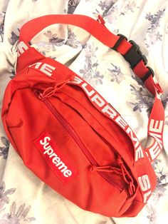 supreme red fanny  fashion  clothing  shoes  accessories  mensaccessories   bags ( 5699cfdb3b354