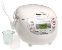 Zojirushi NS ZCC10 Rice Cooker (reviewed as the best fuzzy logic rice cooker by this site, Cook's Illustrated, Consumer Reports, etc.)