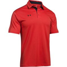 Add your custom embroidered company logo to an Under Armour Men's Red Tech Polo Shirt for the ultimate UA corporate polos or promotional polo shirts that are perfect for everywhere from the office to the golf course. Custom Polo Shirts, Golf Polo Shirts, Under Armour Logo, Under Armour Men, Mens Golf Fashion, Corporate Women, Red Polo Shirt, Sperrys Men, American Eagle Men