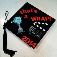 "Film and television #Graduation Cap - ""That's a wrap"" #Classof2014"