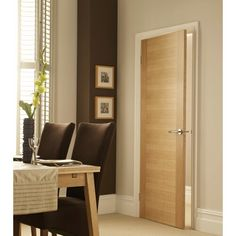 Amersham Solid Wood Internal Door Natur Pur Door Size: 204 cm H x cm W x 4 cm D Two Panel Doors, Mdf Doors, Wood Doors, Solid Interior Doors, Door Design Interior, Internal Doors Modern, Modern Door, Oak Fire Doors, Flush Doors