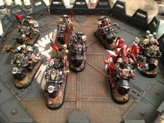 BT Bikers: Black Leather & Chains - posted in + Black Templars +: Hello, brothers!  So Ive been looking in to investing in some Black Templar bikers. Ive seen some beautiful kitbashes and have felt my lists sorely lack a little bit of giddy-up/flexibility in objective based games. So, I have a few questions for those of you who are already fielding bike units... 1. How do you give your bikes some Templar flavor? What about Dark Vengeance conversions? 2. How well do they play?  3. Thi...