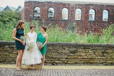 Bridesmaids wear individual green dresses | Photography by http://jesspetrie.com/ Wedding Blog