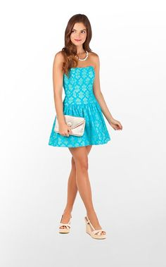 Tenley Dress in Turquoise Lace Me Up $228 (w/o 5/12/12) #lillypulitzer #style #fashion