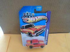 2012 MATTEL HOT WHEELS DIE CAST CAR 57 CHEVY  #HotWheels #Chevrolet