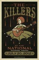 Killers Poster - The National, Richmond - Chris Murphey