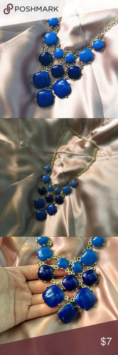 Beautiful Cobalt Bead Statement Necklace Great necklace! Never worn. Jewelry Necklaces