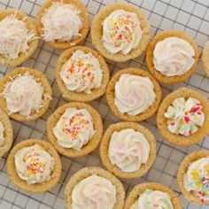 Sugar Cookie Cups with Coconut Buttercream Frosting - Allrecipes.com