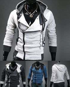 Thinking of dressing up as Desmond from Assassin's Creed for Halloween? We have a $26 for a Men's Zipper Slim Fit Hoodie OR $50 for 2 deal - Choose from 3 Colours! Slim Fit Hoodie, Best Deals Online, Assassin's Creed, Dress Up, Leather Jacket, Colours, Zipper, Hoodies, Halloween