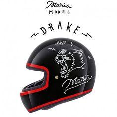 MARIA RIDING COMPANY X.Garage XG100 DRAKE Casco Integrale - Nero